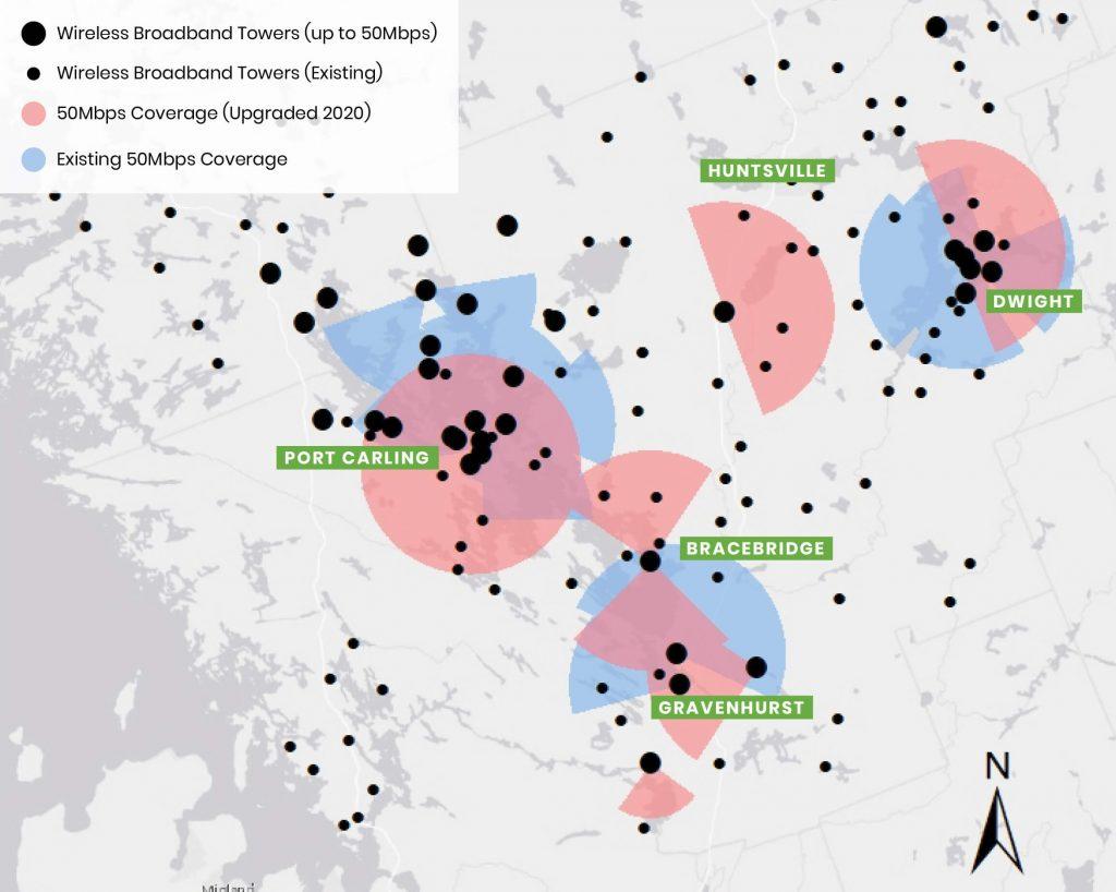 Lakeland Networks Wireless Internet Coverage Map