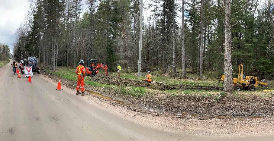 Lakeland Networks fibre internet build on Wasauksing First Nation land