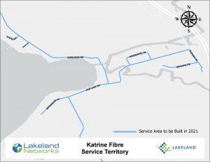 Map of Lakeland Networks Fibre Internet Coverage Katrine