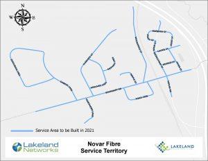 Map of Lakeland Networks Fibre Internet Coverage Novar