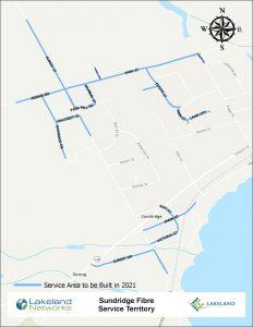 Map of Lakeland Networks Fibre Internet Coverage Sundridge